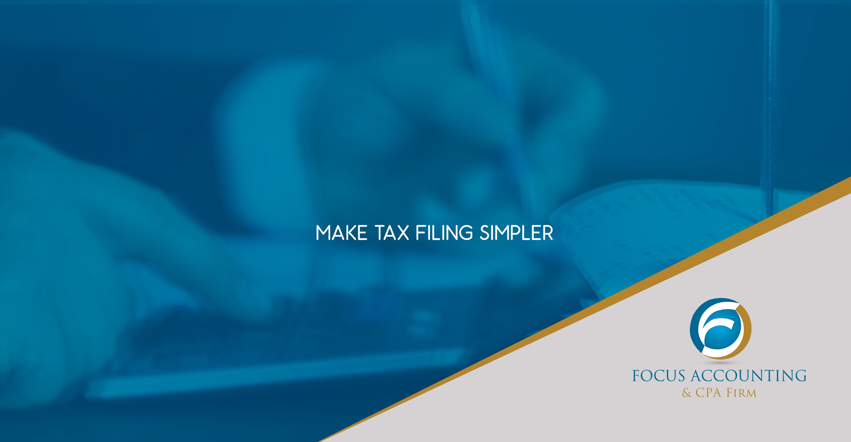 Make tax filing simpler