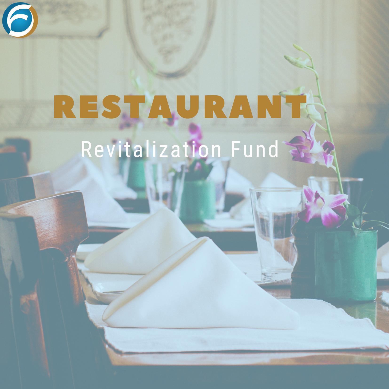 Restaurant Revitalization Fund - SBA